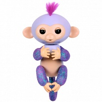 FINGERLINGS 3762M Интерактивная обезьянка КИКИ (светло-пурпурная),12 см